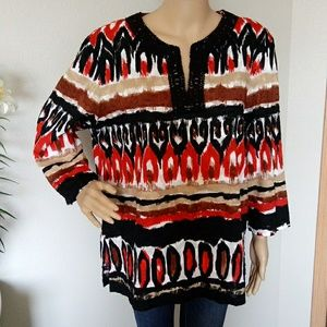 Alfred dunner Multicolor Top Tunic Size 18